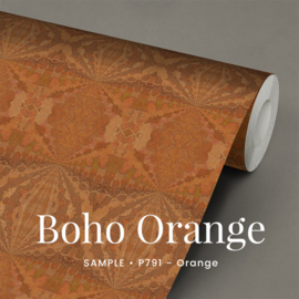 Boho Orange  /  Etnisch Boheems behang