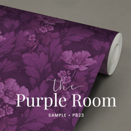 The purple room / Bloemen behang