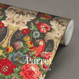Red Parrot  / Botanisch Papagaai behang