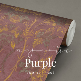 Majestic Purple / Klassiek historisch behang