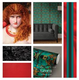 Louscious Green / Glamour Art Deco behang