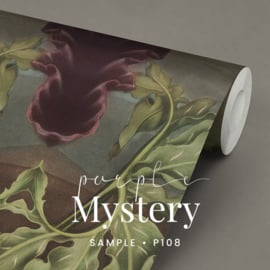 Purple Mystery / Botanisch behang