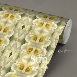 Glorious sun  / Botanische bloemen behang
