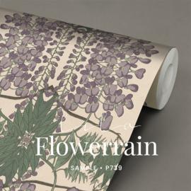 Flowerrain  / Botanisch Art Nouveau behang