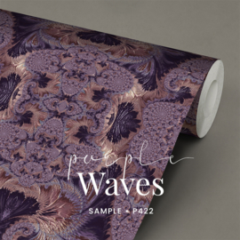 Purple Waves / Glamour Chique maximalistisch behang