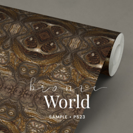Bronze World / Glamour Chique Maximalistisch behang