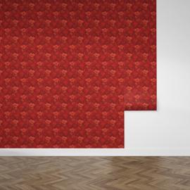 The red room / Bloemen behang