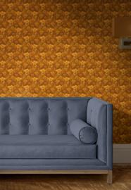 The ocre room / Bloemen behang