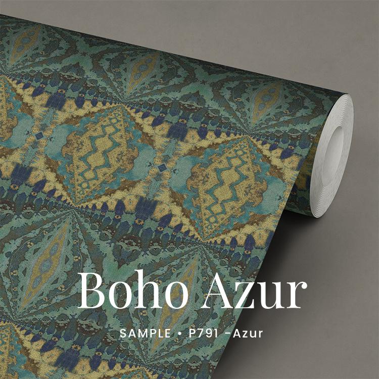 Boho Azur  / Etnisch Boheems behang