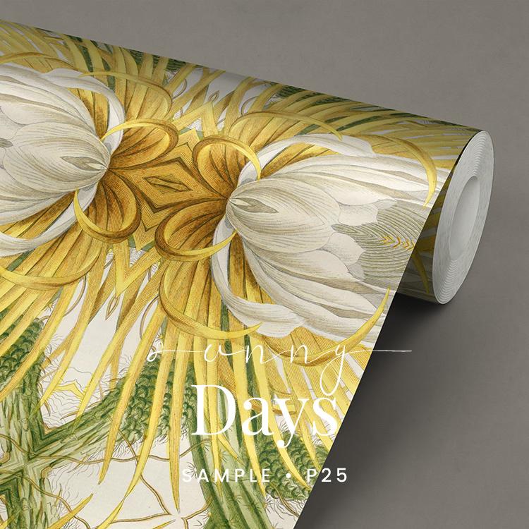 Sunny Days / Botanisch Bloemen behang