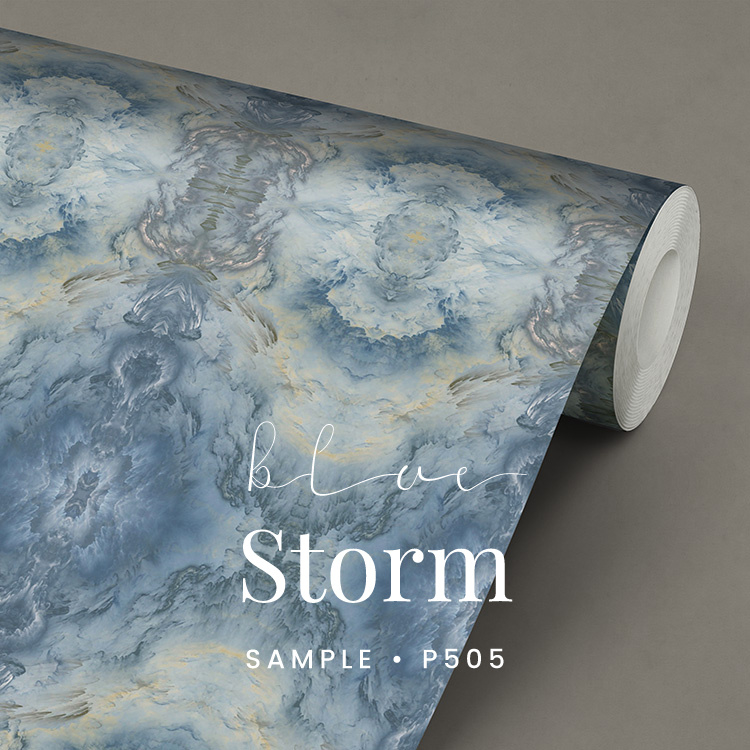 Blue Storm / Klassiek Romantisch behang