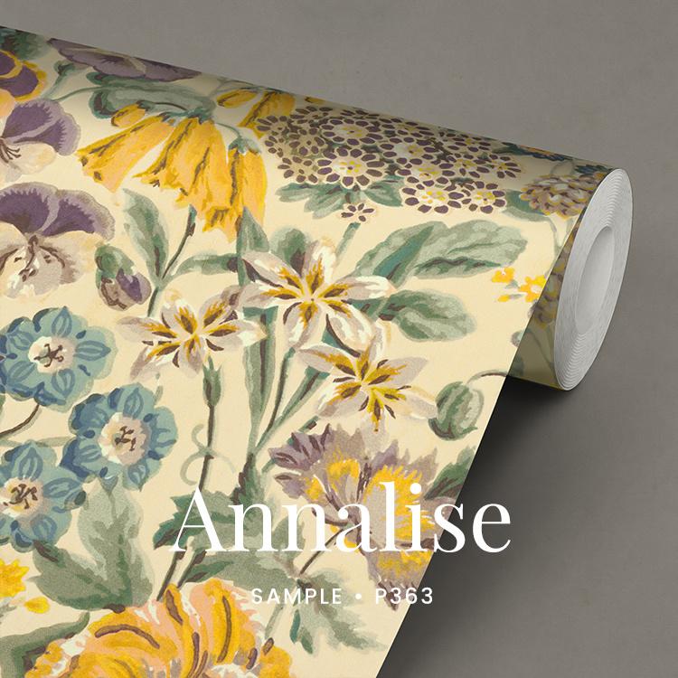 Annalise / Engels Bloemen behang