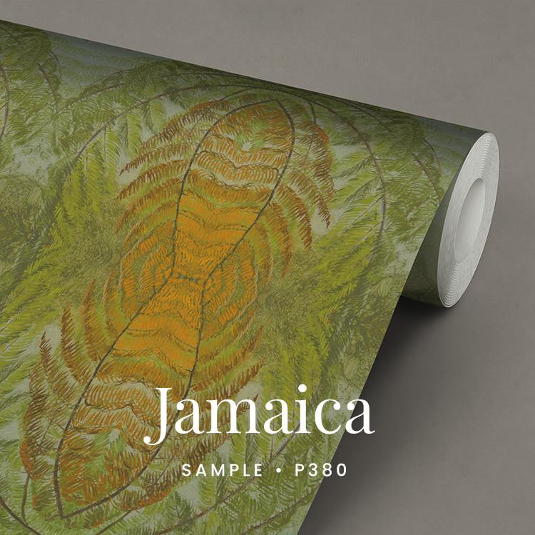 Jamaica / Botanisch tropisch behang