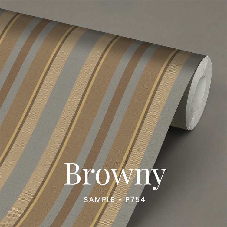 Browny / Strepen behang