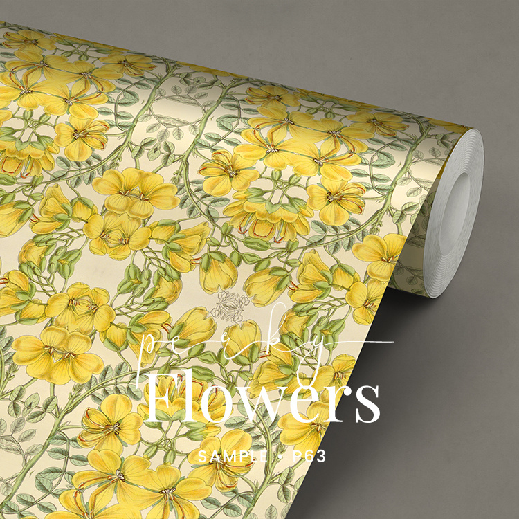 Perky Flowers / Botanisch Bloemen behang