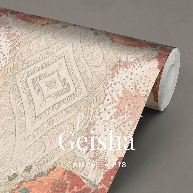 Pink Geisha / Japans orientaals behang