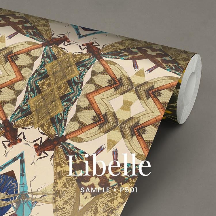 Libelle  / Etnisch Boheems behang