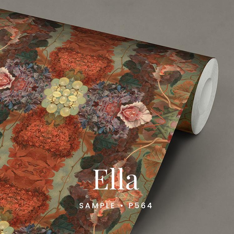 Ella / Klassiek Botanisch behang