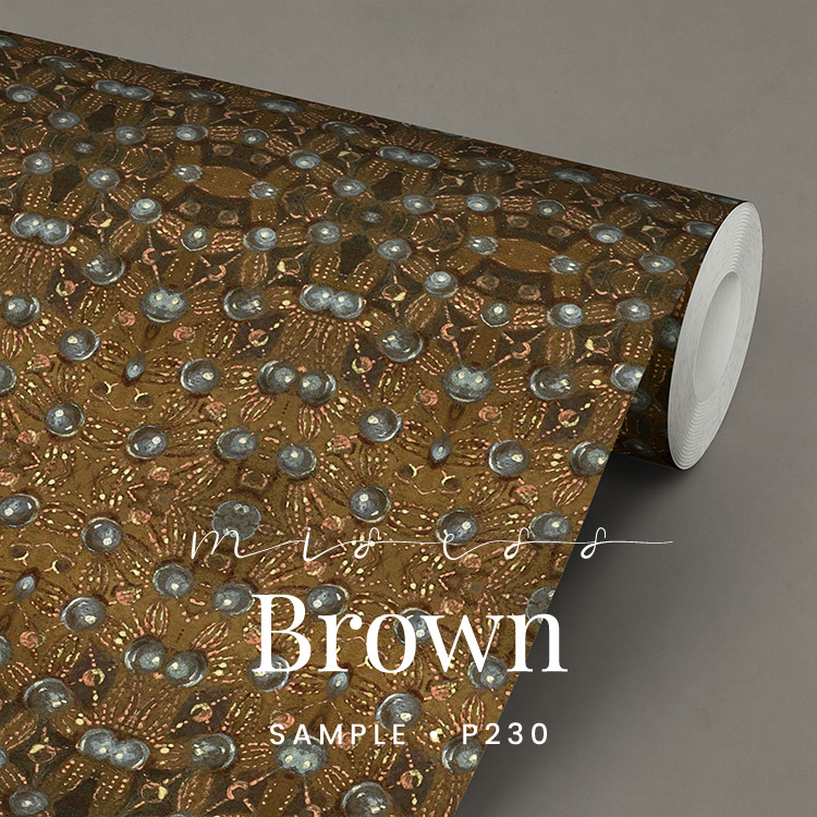 Miss brown /  Klassiek Victoriaans behang