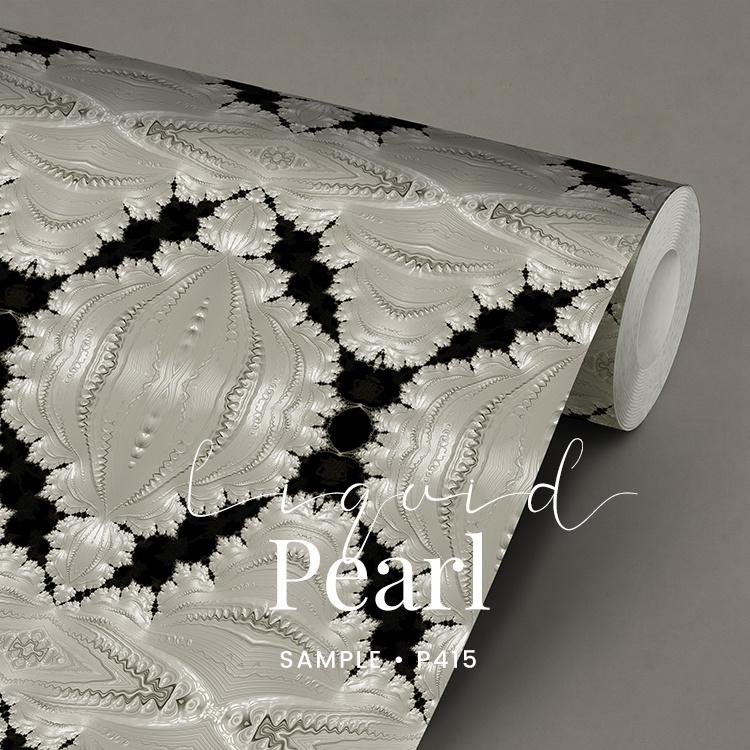 Liquid pearl / Glamour Chique Art Deco behang