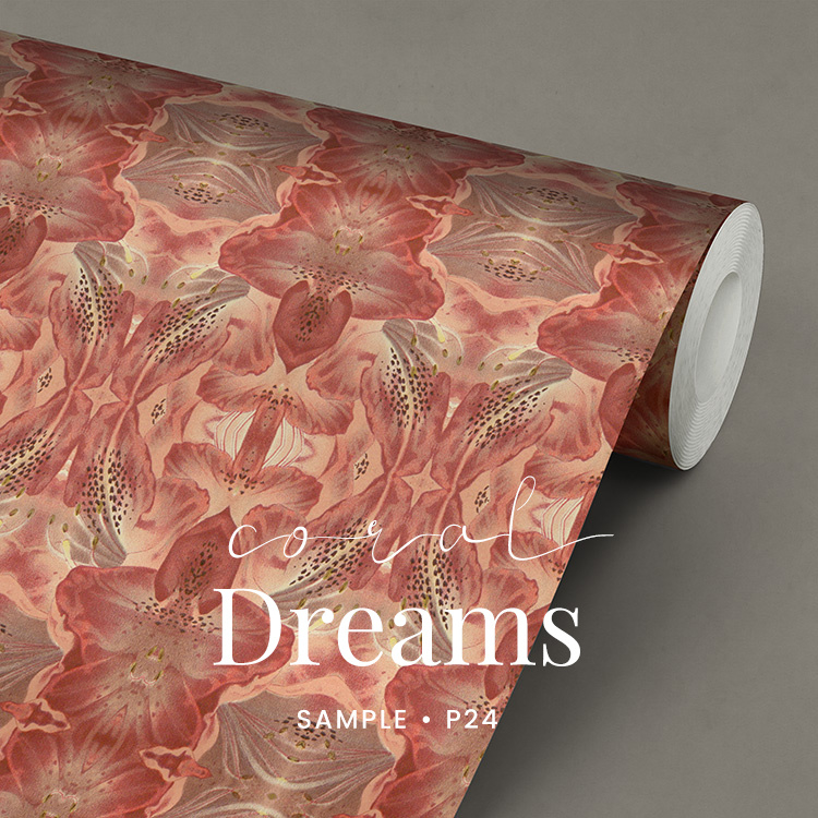 Coral Dreams Bloemen behang