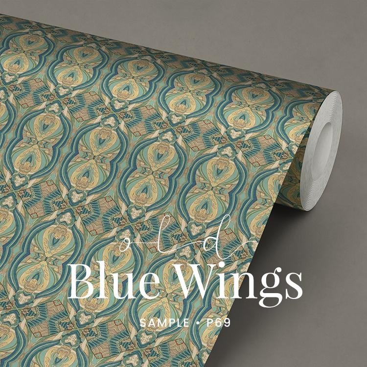 Blue Wings  / Klassiek Historisch behang