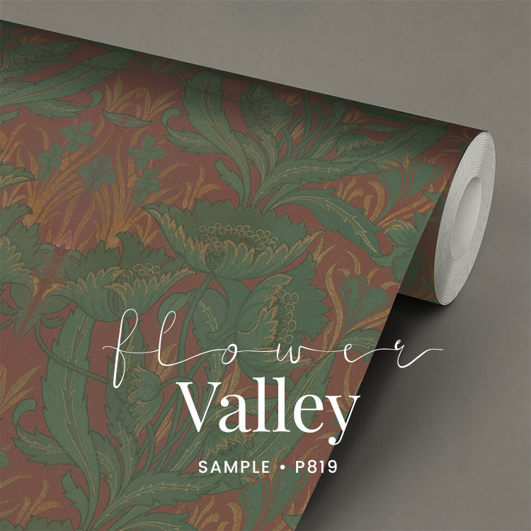 Flower valley / Klassiek behang