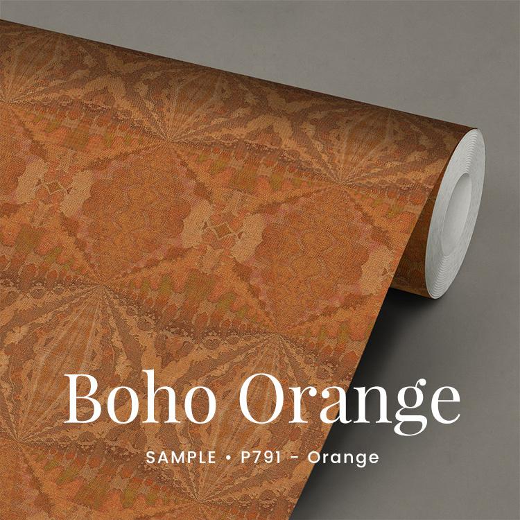 Boho Orange  /  Etnisch Boheems behang