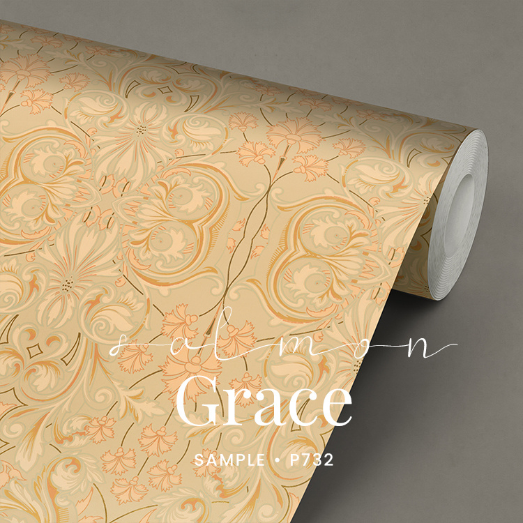 Salmon Grace / Klassiek historisch behang