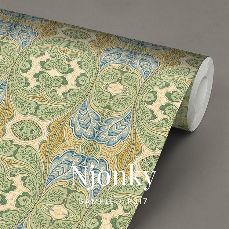 Njonky  / Klassiek Art Nouveau behang