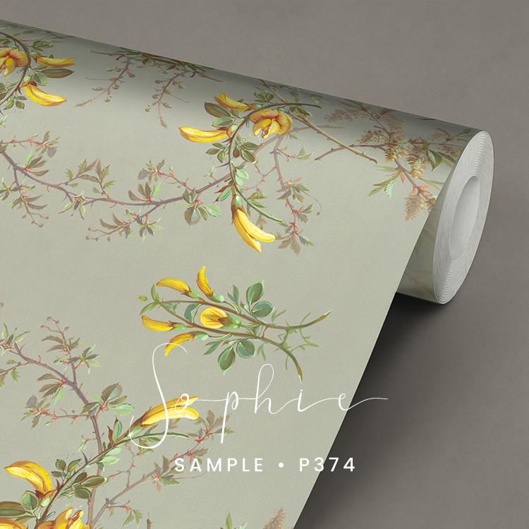 Sophie / Botanisch Bloemen behang