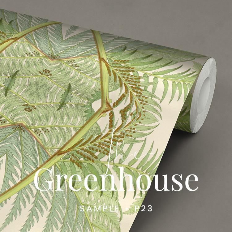 Green House / Botanisch bladeren behang