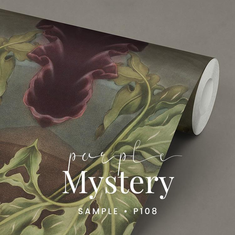 Purple Mystery / Botanisch behang