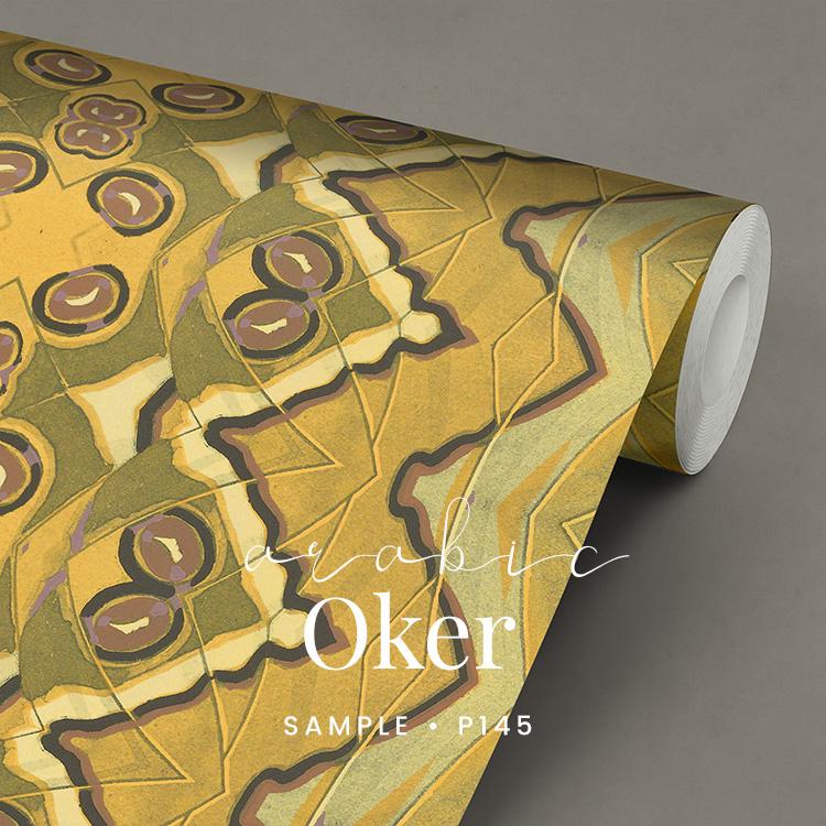 Arabic Oker / Etnisch Vlinder behang