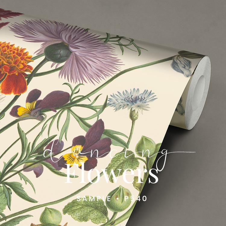 Dancing Flowers  / Klassiek Botanisch  behang