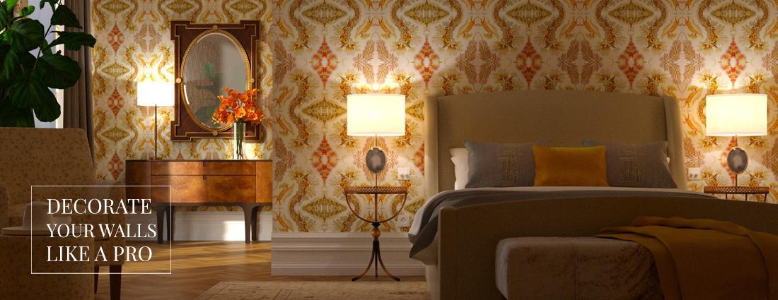 Luxury wallcovering Hotel restaurant