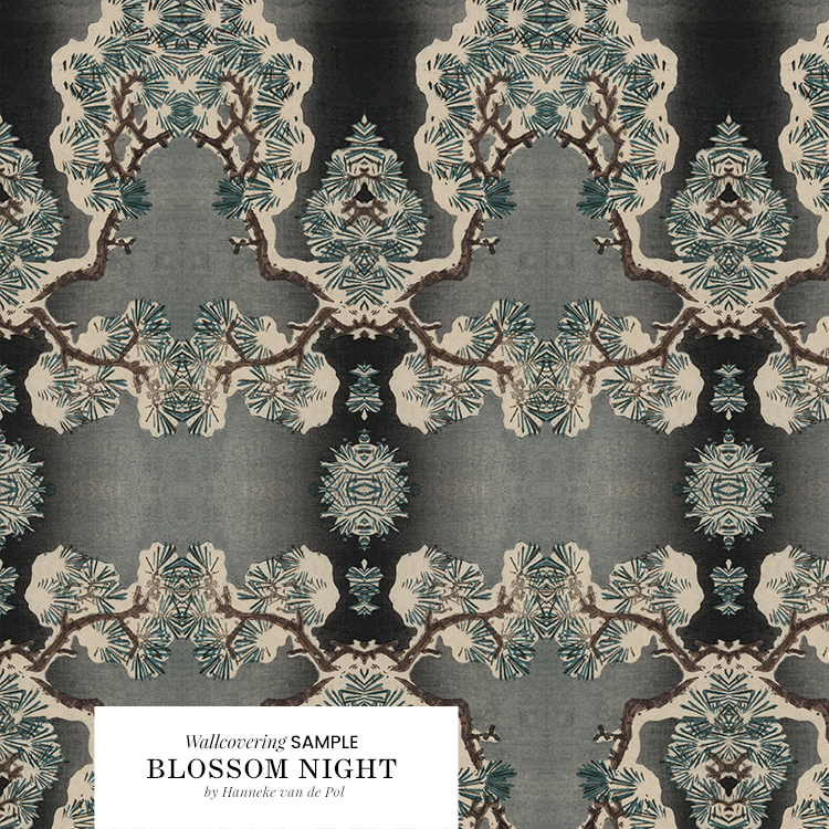 Blossom Nights wallcovering Japanese