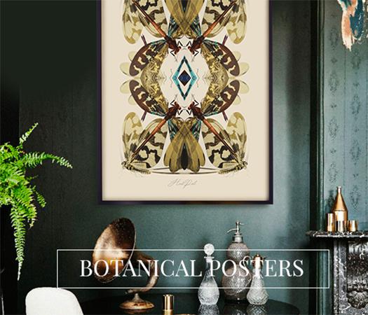 Botanische kunst posters groot formaat