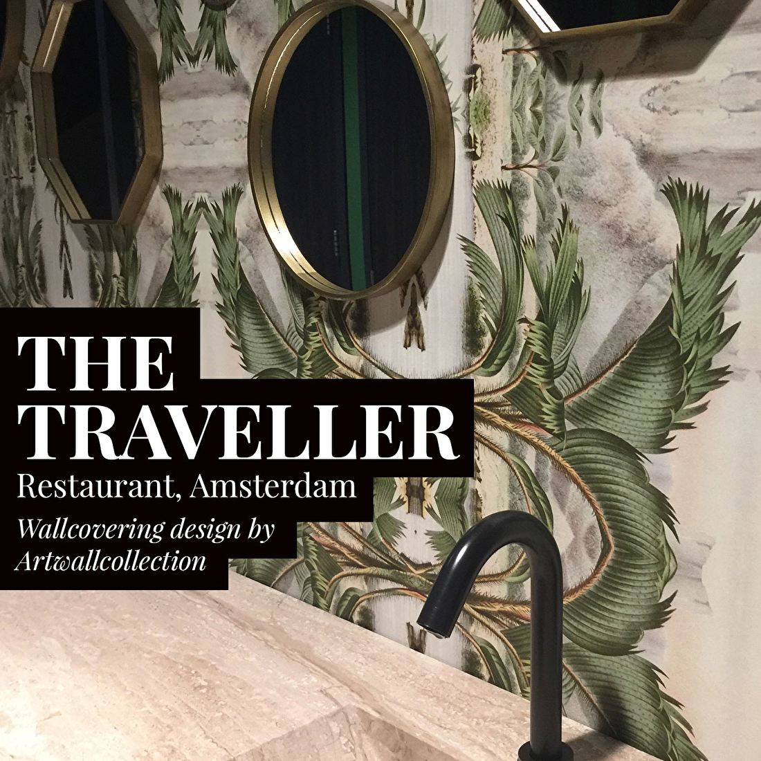 wallcovering restaurant The Traveller