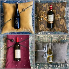 Kussen & wijn