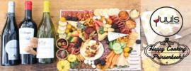 Grazing Platter met 2 flessen wijn (4 pers)