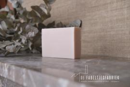Blokje zeep lichtroze per 5 stuks