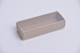 Medium doosje met doorzichtige sleeve natuur -set van 10