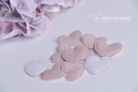 Applicatie hart zachtroze - 10 stuks