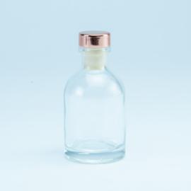 Flesje transparant met rosé dop