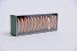 Medium doosje met doorzichtige sleeve donkergroen set van 10