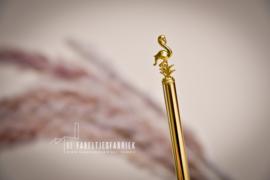 Balpen flamingo goud