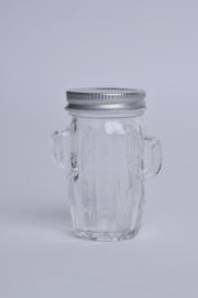 Glas cactus klein set van 5