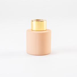 Flesje voor huisparfum blush met goud