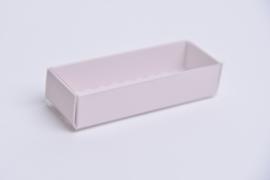 Medium doosje met doorzichtige sleeve lichtroze - set van 10